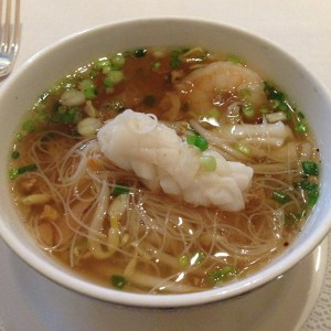 Sea food noodle soup