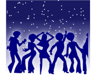 people partying illustration