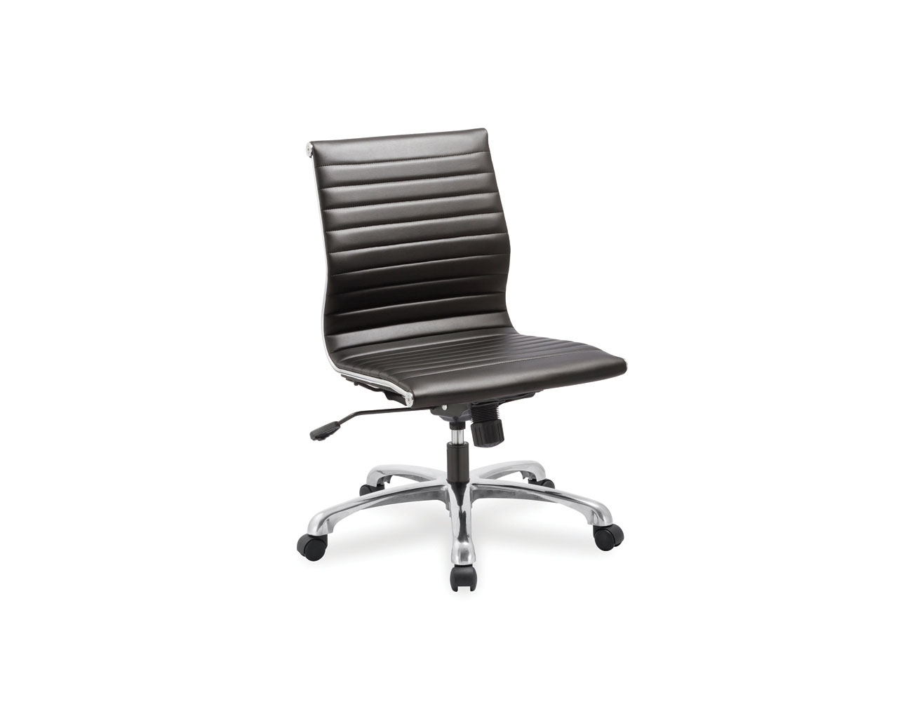 leather office chairs without arms plastic beach chair nova mid back