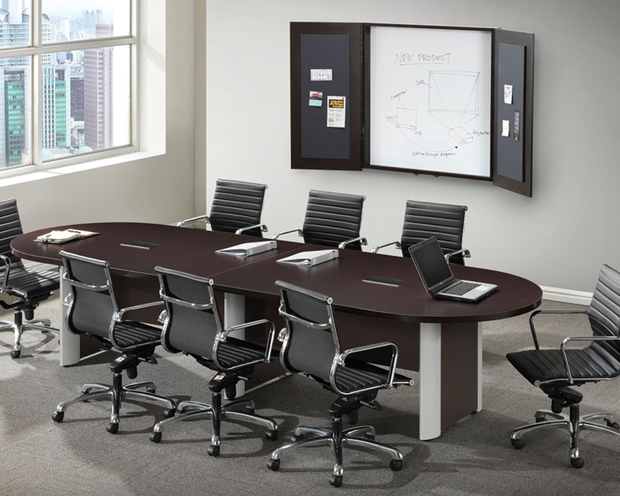 office conference room chairs one and half chair classic plus racetrack table