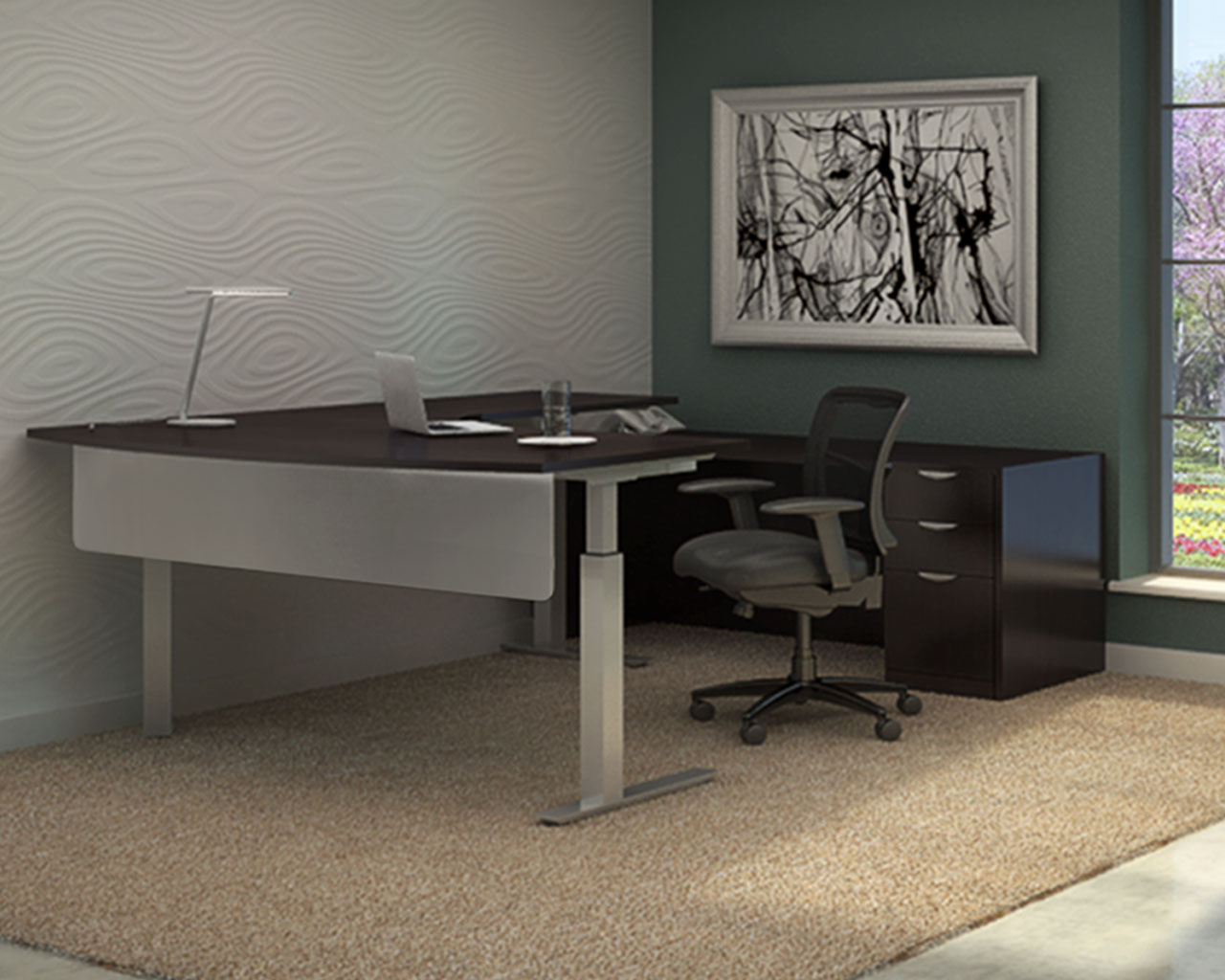 Standing Desk  Sit Stand Desk  Height Adjustable Table