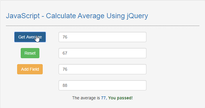 JavaScript - Calculate Average Using jQuery | Free Source Code & Tutorials