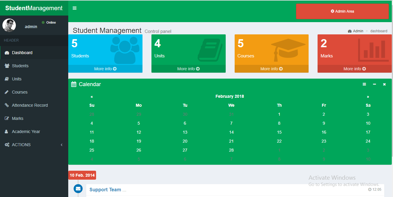 Student Management System PHP Free Source Code