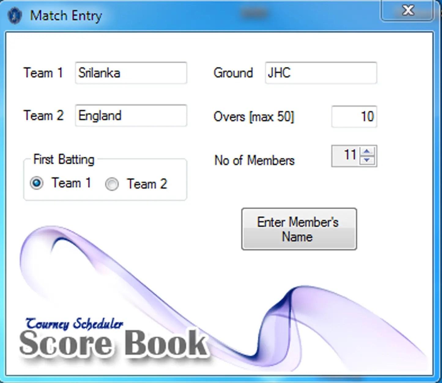 Cricket Score Card