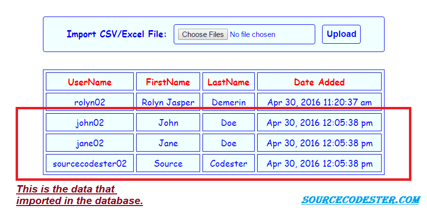 How To Create Import CSV Excel File To MySQL Database