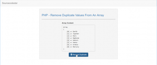 Php Remove Duplicate Values From An Array Free Source