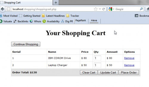 How to build shopping cart  checkout in php also free source code rh sourcecodester