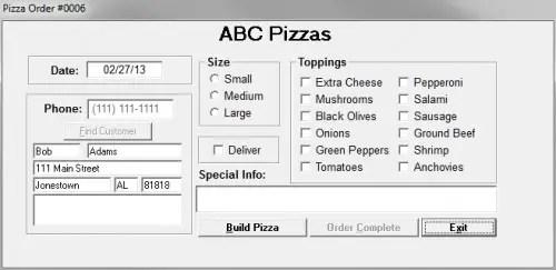 Pizza Order Free Source Code & Tutorials
