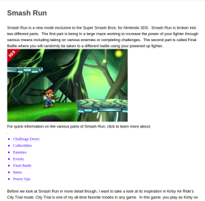 SSB4Dojo's Smash Run page.