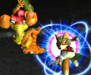 Like this, right in the air. When performed with the control stick, you can move in a direction while dodging.