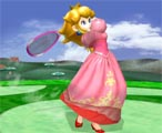Her Smash attack pulls out a racket. She can also pull out a golf club or a fry pan.