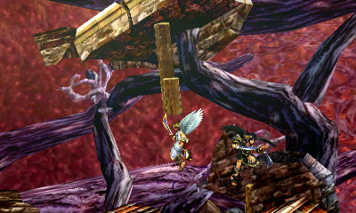 Some of the ruined structures can be destroyed by players' attacks.