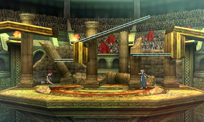 The fourth of the possible layouts, featuring ruins in the background and no interactive elements.