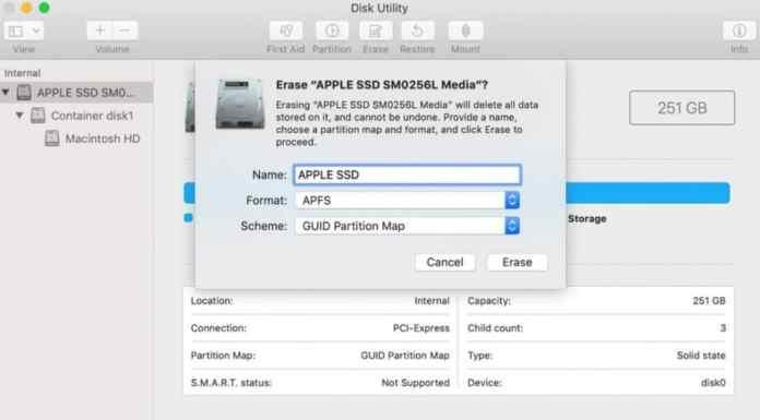 format hard drive on Mac
