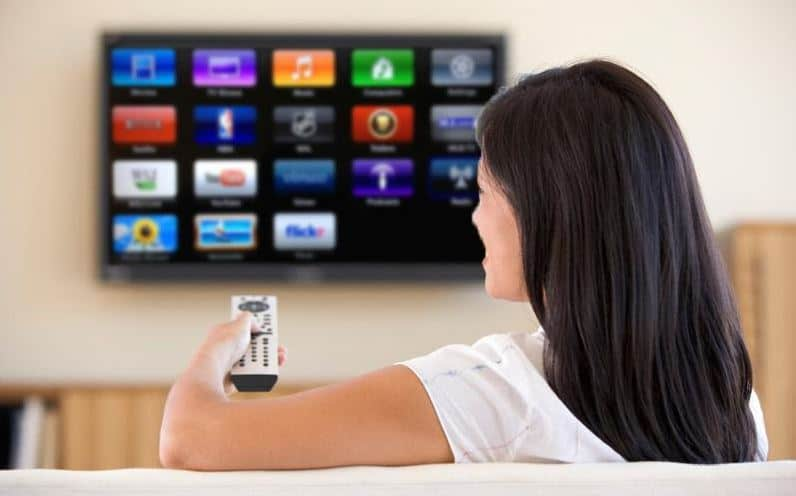 TV with integrated satellite receiver
