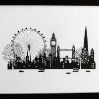 London Scene Framed Print by Five Dollar Shake