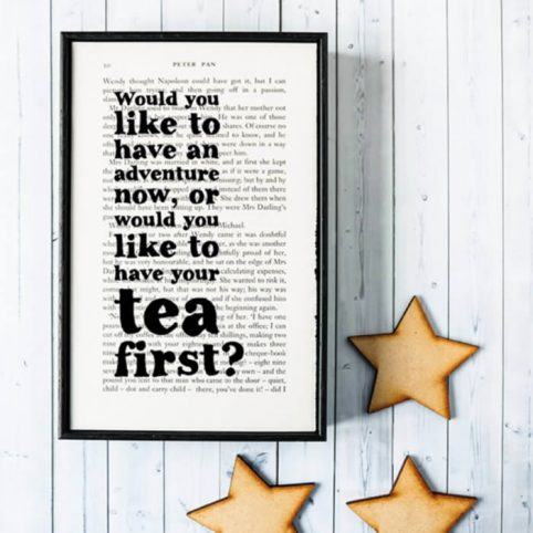 Peter Pan Quote Prints Framed By Bookishly