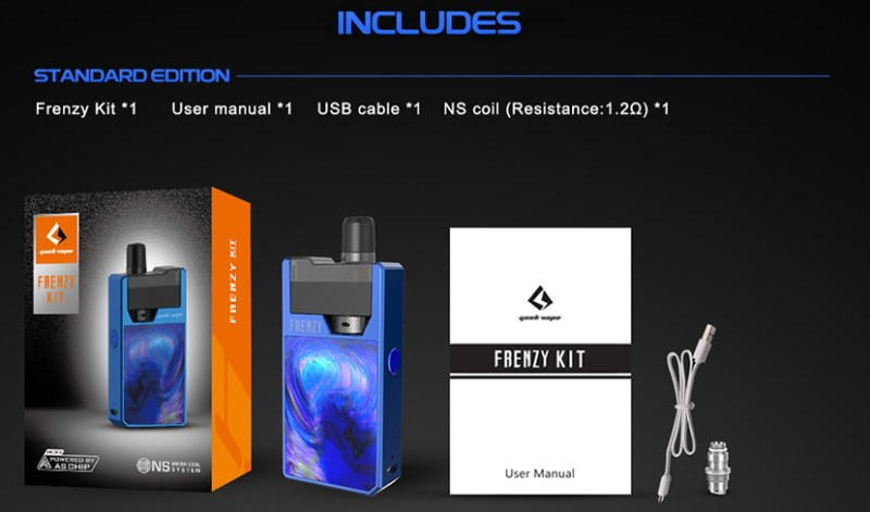 Frenzy Vape Kit Features 9