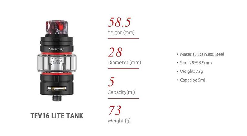 SMOK G-PRIV 3 Kit 230W TC Box Mod with 5ml Φ28mm TFV16