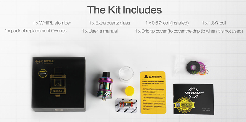 Uwell Whirl Tank Includes