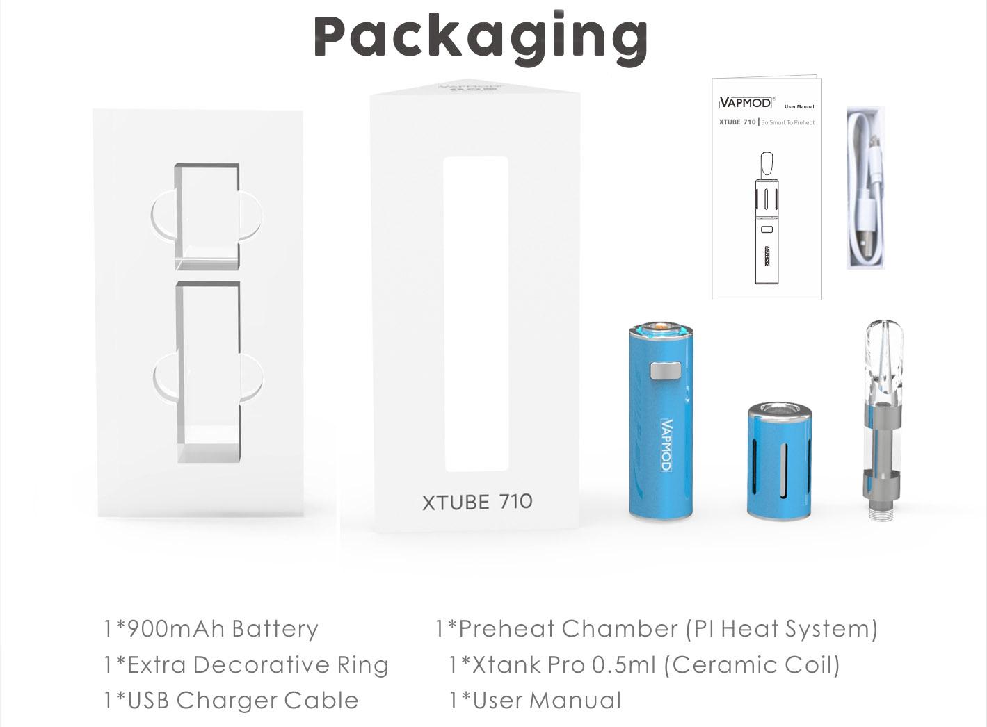 Vapmod Xtube 710 Kit 900mAh & 0.5ml Vaporizer Vape Pen Kit