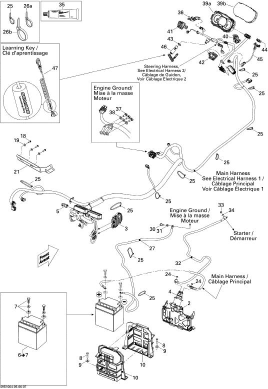 2010 Sea Doo GTX, GTX 155 Electrical System Parts