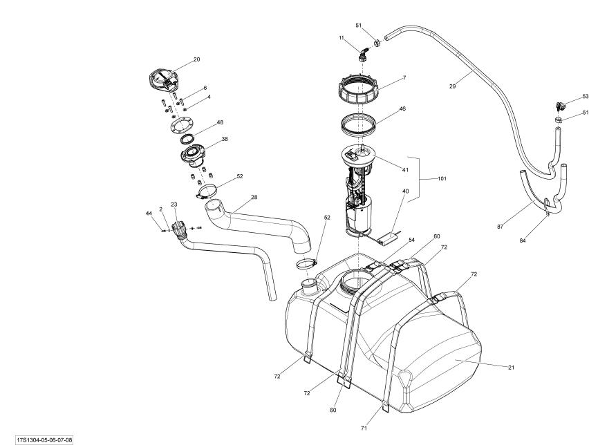 fuel filter seadoo bombardier