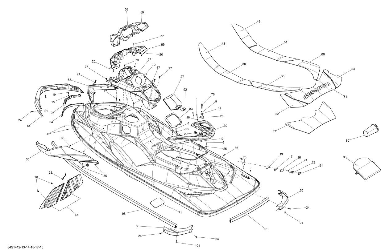 2014 Sea Doo GTI, GTI 130 Body Parts