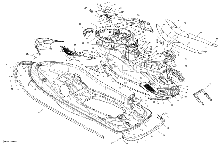 2014 Sea Doo RXT, RXT X aS 260 & RS Body Parts