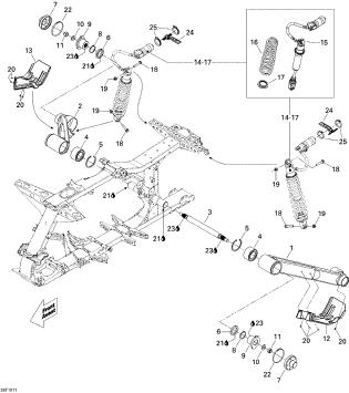 2010 Can-Am Renegade 800R EFI Xxc Rear Suspension Parts