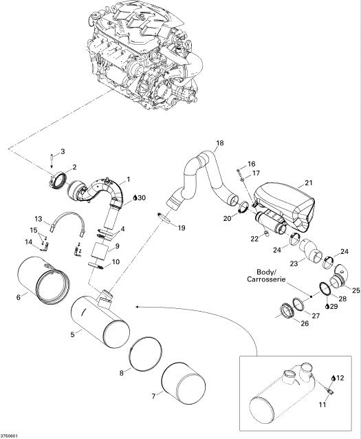 2006 Sea Doo RXP, RXP Exhaust System Parts