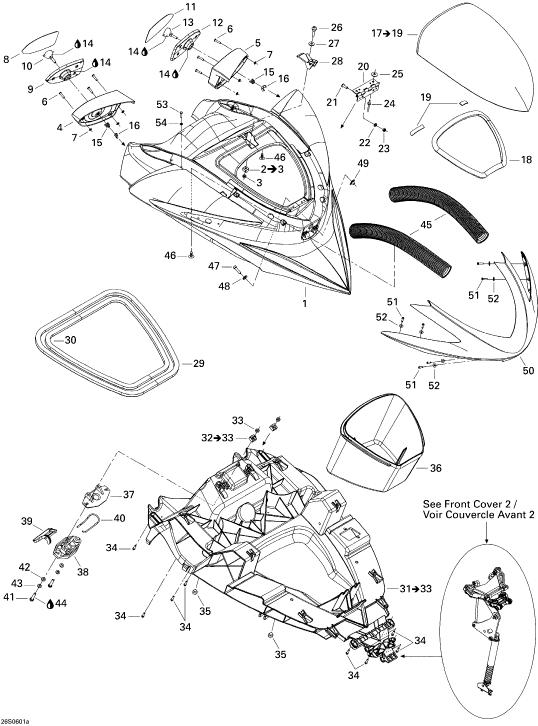 2006 Sea Doo RXP, RXP Front Cover 1 Parts