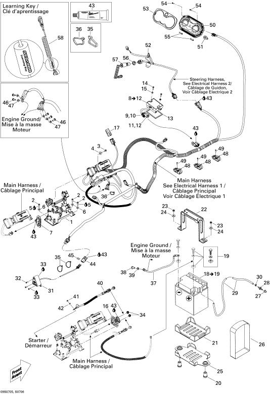 2007 Sea Doo GTI, GTI 4-TEC STD Electrical System GTI STD