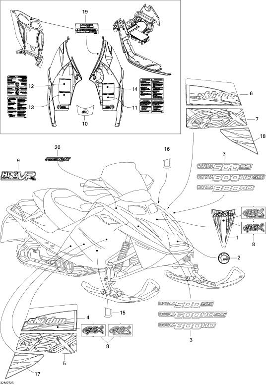 2007 Ski Doo Gsx Ltd 600 Ho Sdi Rotax 600Hosdi Decal