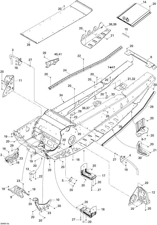 2005 Ski Doo MX-Z 600 HO SDI Renegade & Renegade X Frame Parts