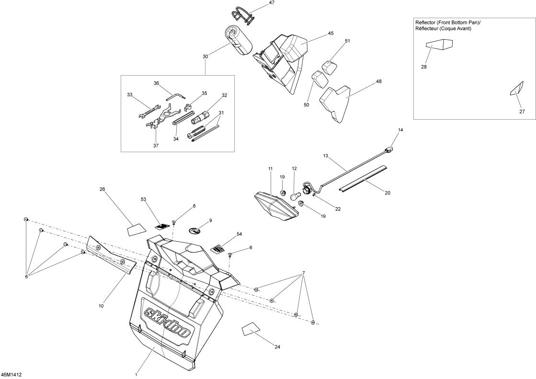 2014 Ski Doo MX-Z SPORT 600 REV-XP Utilities Parts