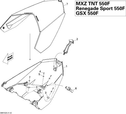 2010 Ski Doo Renegade Sport 550F Luggage Rack Parts