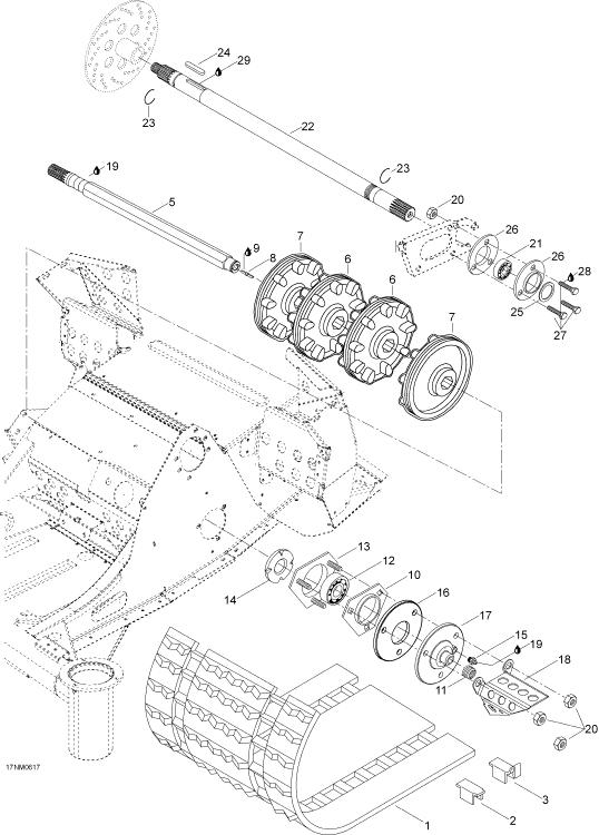 2004 Ski Doo Skandic LT 440F Drive System Parts