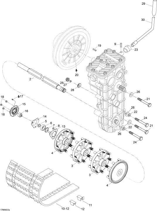 2008 Ski Doo Skandic SWT 550F Drive System SWT 550F Parts