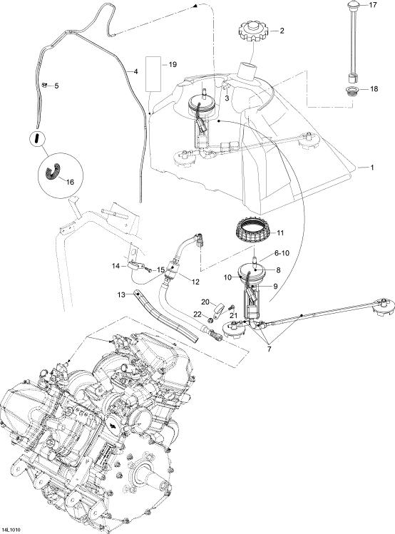 2010 Ski Doo Skandic SWT V800 Fuel System Parts