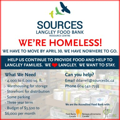 Sources Langley Food Bank Campaign - Social Media Template
