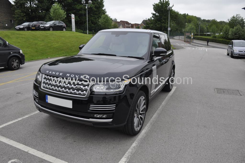Range Rover Vogue SE 2013 headrest screen upgrade Source Sounds
