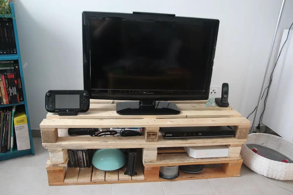 tutoriel diy meuble tv en palettes
