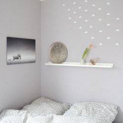 Auf Wolke 24 meine Schlafzimmerdeko mit neuem Bild und Wandstickern