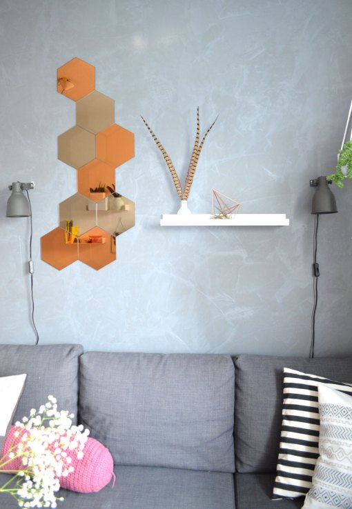 unser wohnzimmer kupfer akzente orientteppich und ein. Black Bedroom Furniture Sets. Home Design Ideas