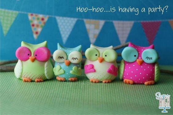 hibou fimo owl polymer