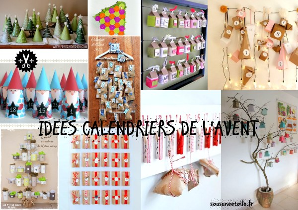 idees diy calendrier avent
