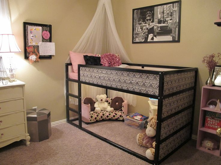 diy transformer le lit kura d 39 ikea sous une etoile. Black Bedroom Furniture Sets. Home Design Ideas