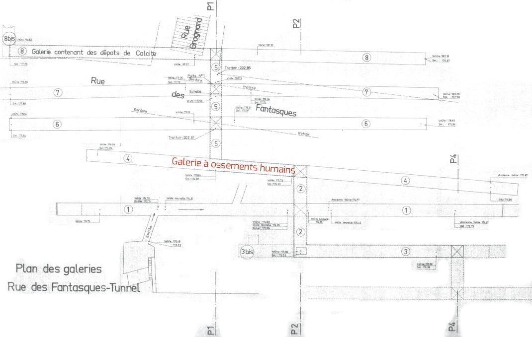 plan galerie des fantasques  Souterrains de Lyon