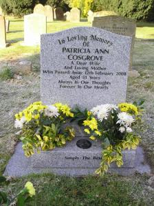 Headstone reference G60 Plan 4 - Cosgrove, Patricia Ann